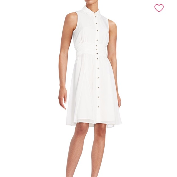 73193e1e6d3 Karl Lagerfeld Paris Chiffon Shirtdress 4